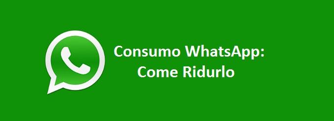 Consumo WhatsApp: Come Ridurlo