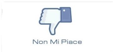 tasto non mi piace facebook