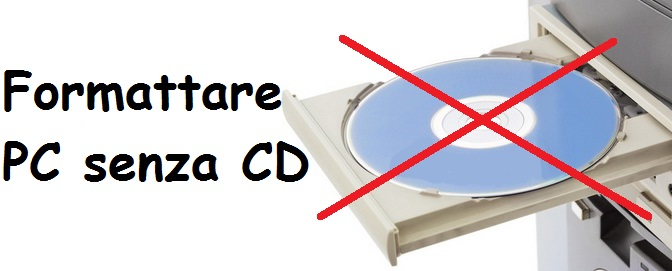 Come Formattare PC senza CD