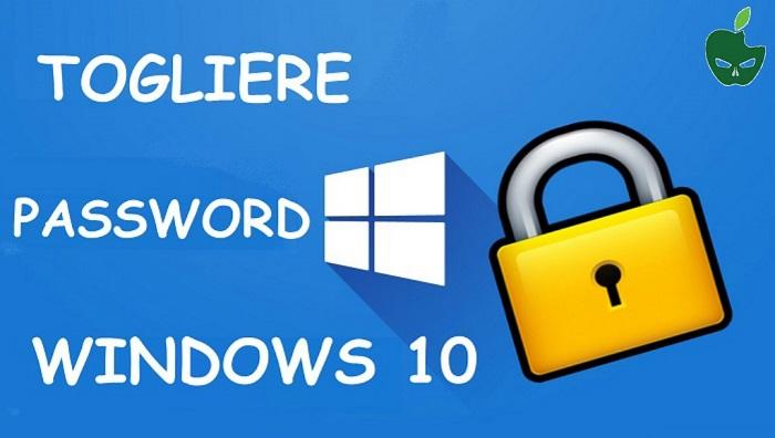 Togliere Password Windows 10 all'Avvio