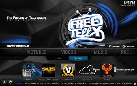 FreeTelly: Un Kodi con Plugin Streaming già installati