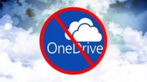 Disinstallare OneDrive su Windows 10
