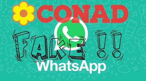 Bufala Conad su WhatsApp: Attenzione