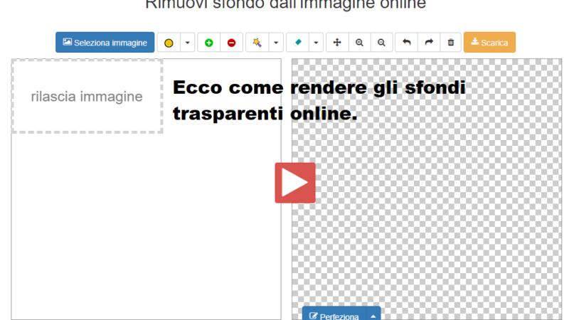 Sfondi trasparenti online, come realizzarli?