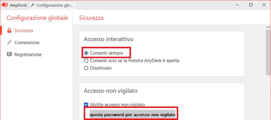 configurare anydesk