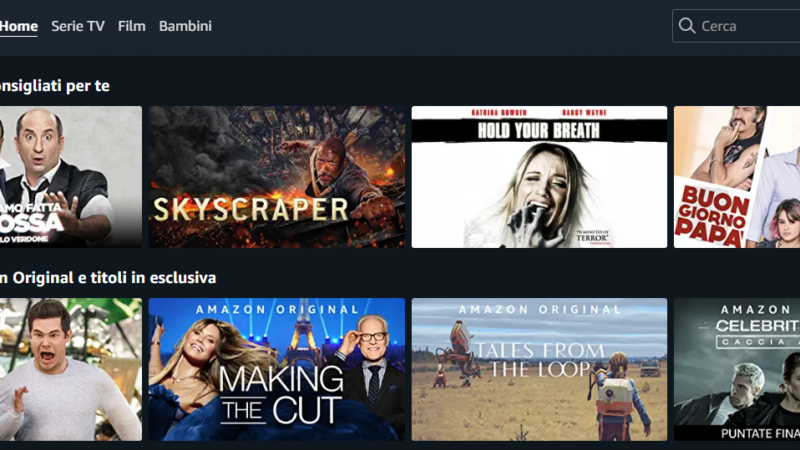 Noleggiare film Amazon Prime Video